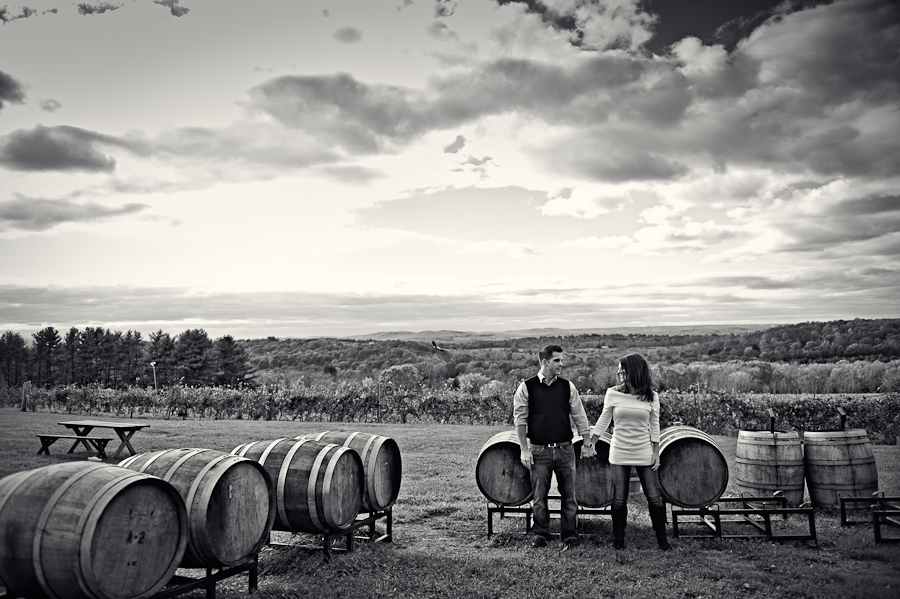 Jacqui and Dan's Engagement Session, Gouveia Vineyards Wallingford, CT