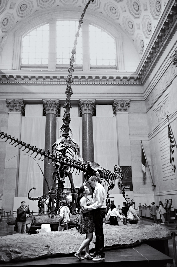 Sam and Steve: engagement session, American Museum of Natural History, NYC