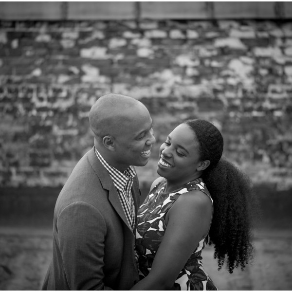 Jade and Alex's Brooklyn Rooftop Engagement Session
