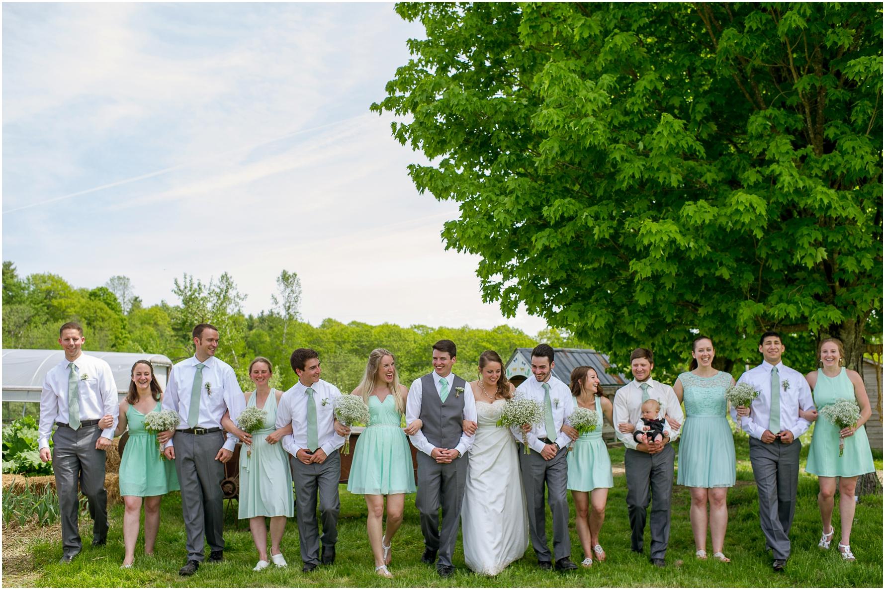 Farm wedding in Maine