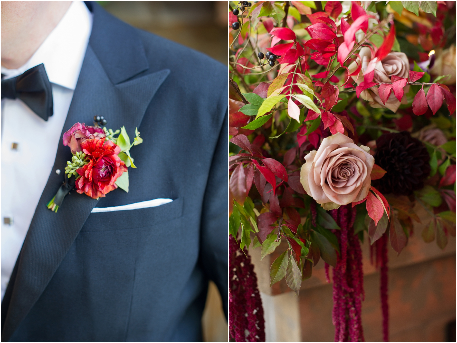 Beautiful flowers for a fall wedding in October